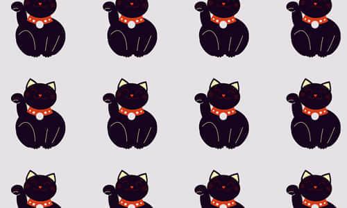 4-black-cat-free-animal-reapet-seamless-pattern