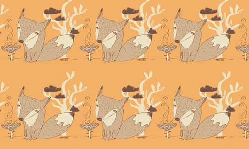 7-orange-fox-free-animal-reapet-seamless-pattern
