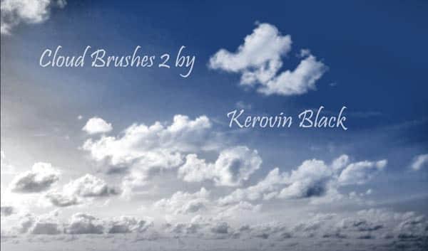 Photoshop CS3专版天空云朵笔刷