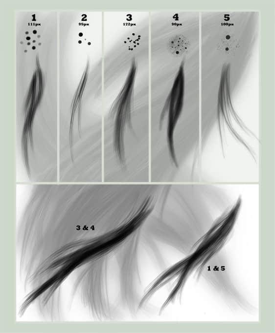 简单实用的毛发笔刷