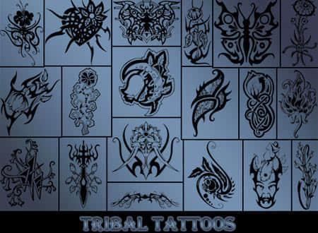50个印第安部落的纹身笔刷