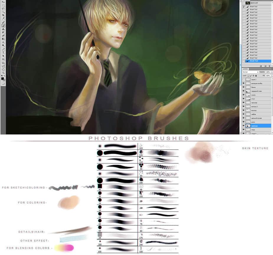 Photoshop CS5专属水彩画笔笔刷