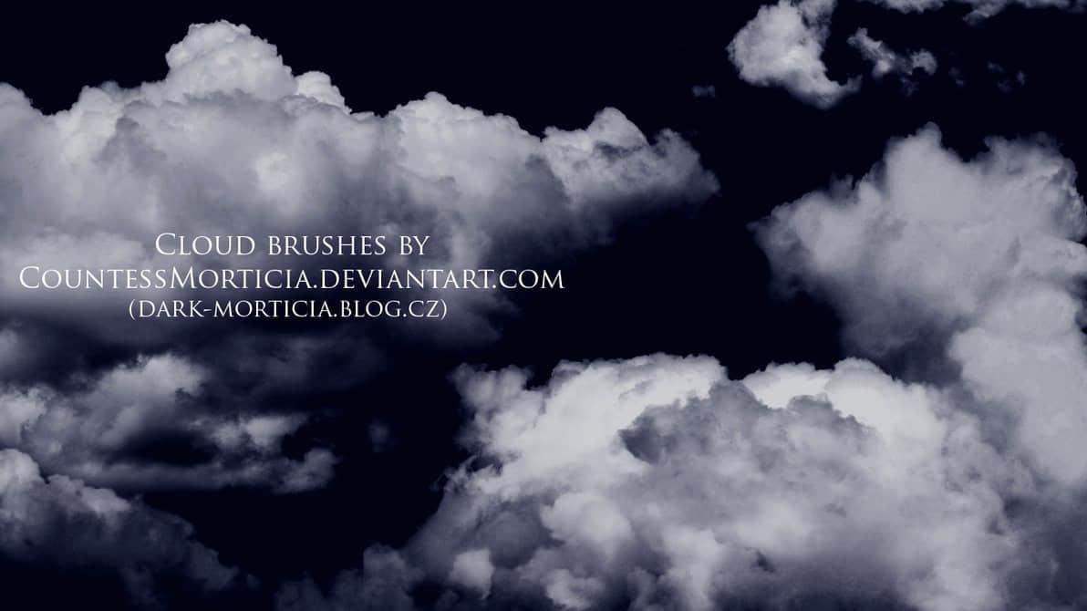 漆黑的乌云效果笔刷