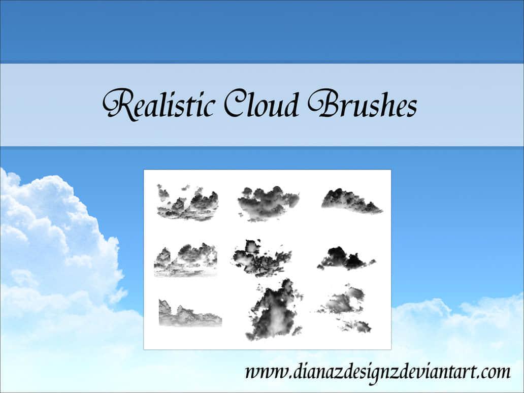 天空中的云朵效果笔刷