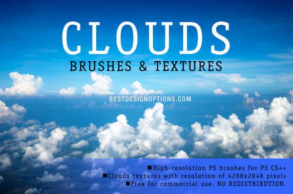 10组2500PX的蓝天白云背景纹理笔刷