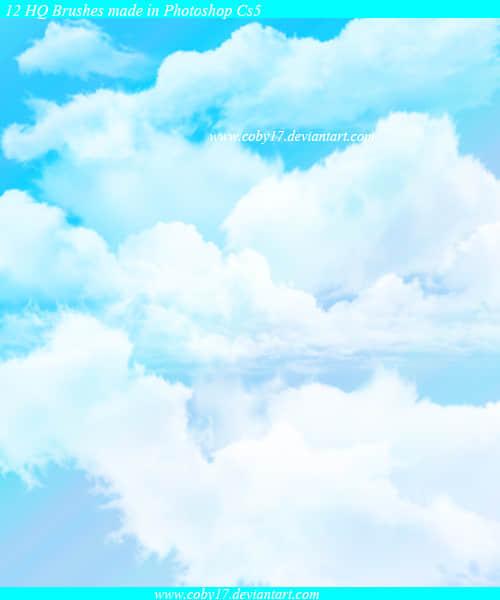 圣洁的天空云朵笔刷