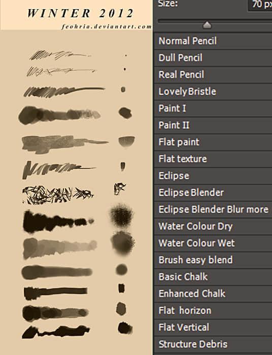 水彩类笔触效果笔刷