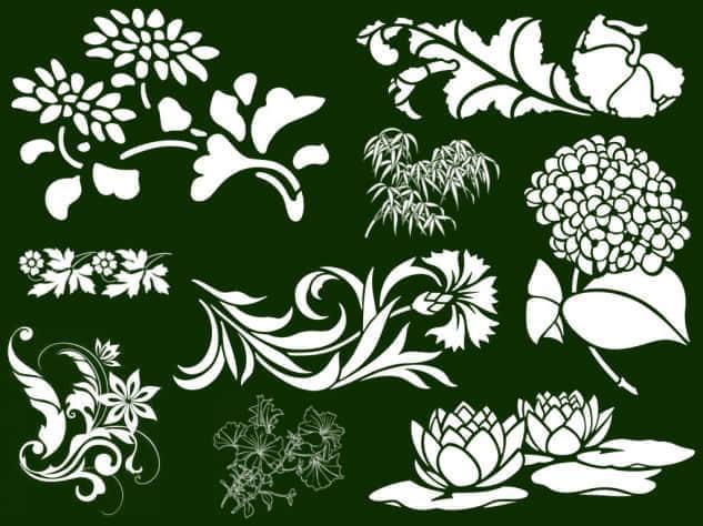 印版式花纹笔刷