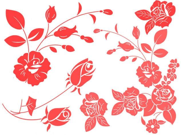 矢量玫瑰花笔刷