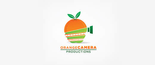 10-camera-film-production-orange-logo-design