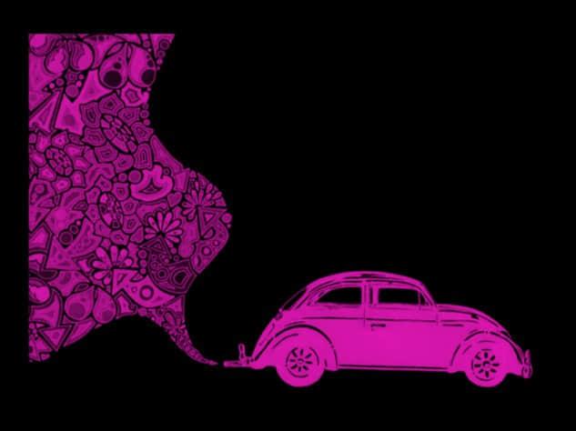 时髦的花式汽车图案笔刷