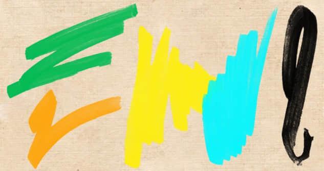 油漆效果刷子画笔