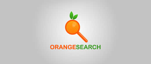 3-magnifying-glass-search-orange-logo-design