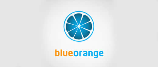 7-blue-orange-logo-design