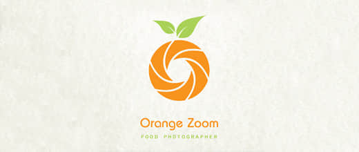 9-photography-camera-picture-food-orange-logo-design