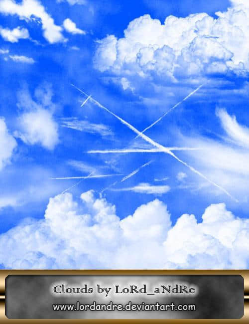 高分辨率飞机云朵笔刷