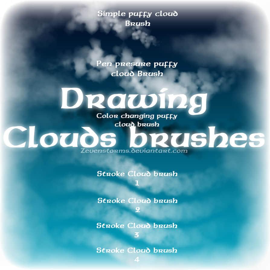 蓬松式云朵笔刷