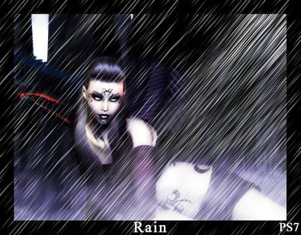 风中下雨的效果笔刷