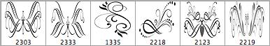 6种高贵典雅的花饰印花笔刷