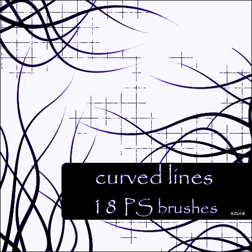 波浪式线条笔刷