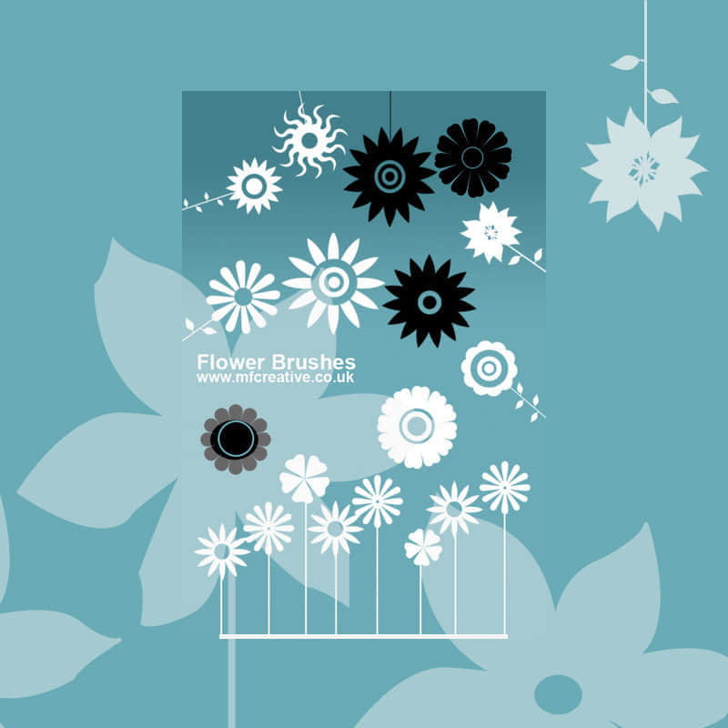 矢量式花朵素材笔刷
