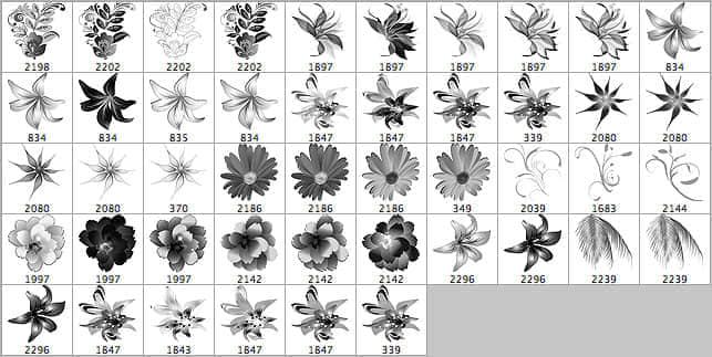 46种高清花卉笔刷