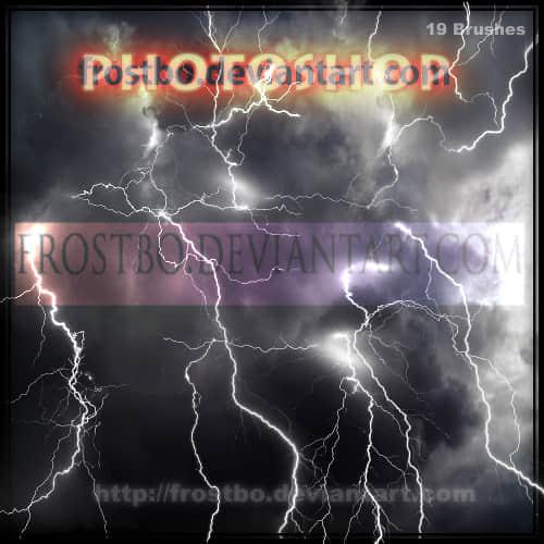 Photoshop闪电笔刷素材