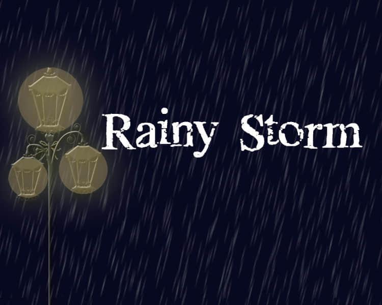 夏夜雨季暴雨笔刷