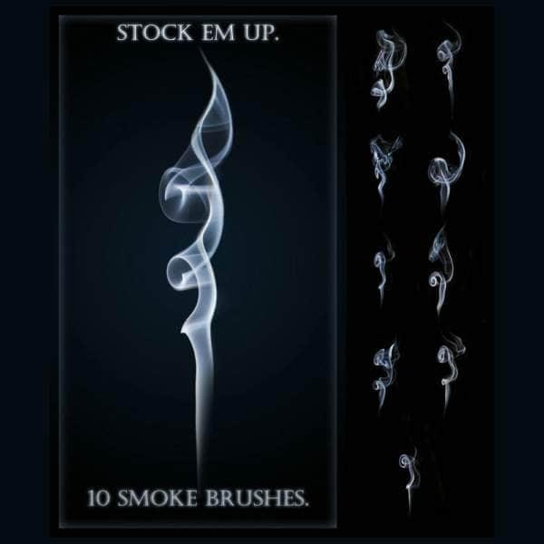 10种袅袅烟雾笔刷