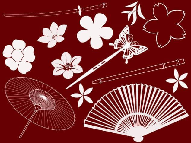 日本矢量生活元素笔刷