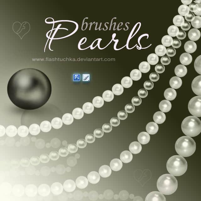 珍珠项链笔刷