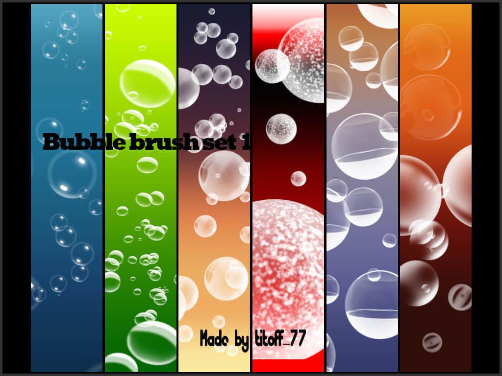 6套气泡水泡效果笔刷