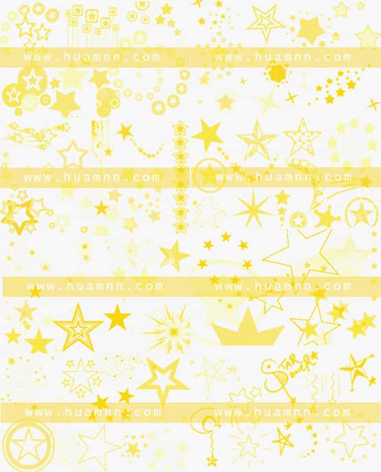 18套繁星云朵笔刷打包下载 笔刷打包下载 矢量星星笔刷 星星背景笔刷 星星符号笔刷  adornment brushes background brushes symbols brushes