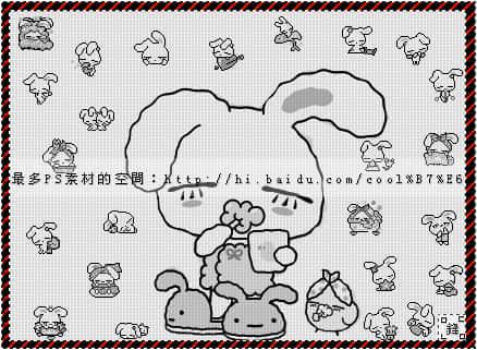 可爱卡通小白兔笔刷