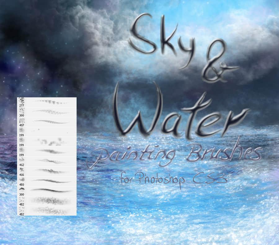 天空和水效果笔刷