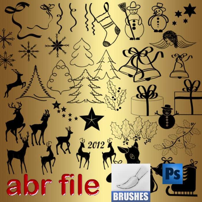 圣诞节卡通动漫涂鸦笔刷