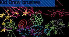 漂亮的童趣可爱涂鸦笔刷