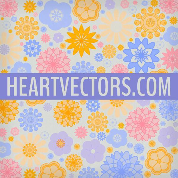 春天的矢量背景花卉花纹笔刷