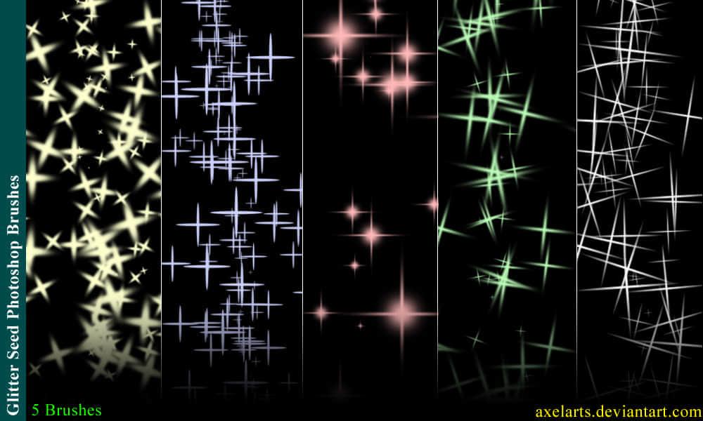 5种亮晶晶闪烁背景笔刷