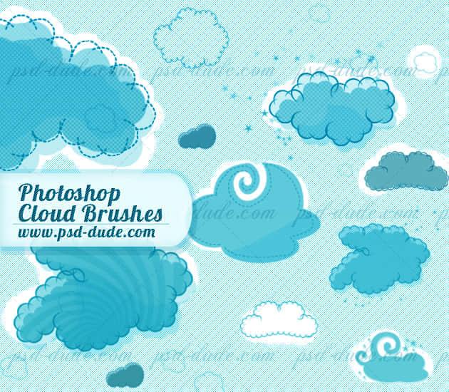 可爱无比的PS卡通云朵笔刷