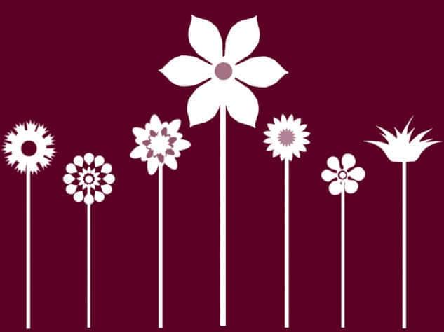 简单的矢量枝条鲜花笔刷