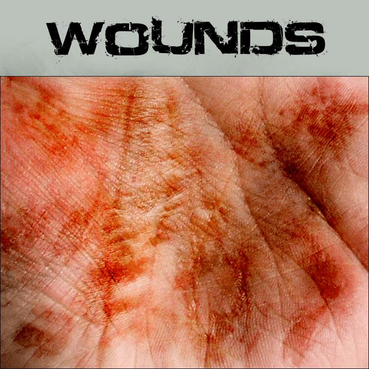 手掌血迹伤口笔刷