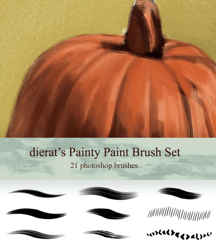 油漆插画式笔触材质笔刷