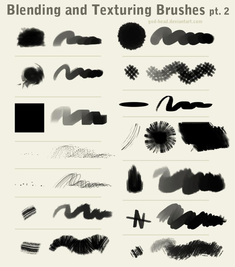 14种纹理绘画效果笔刷