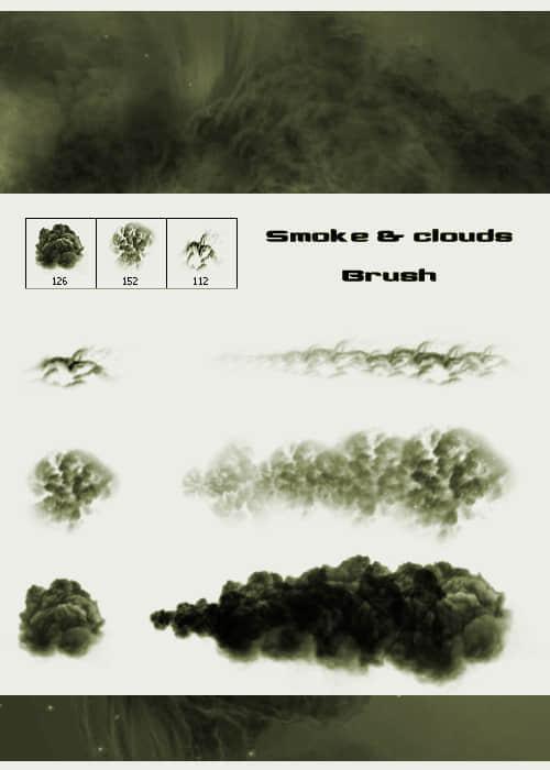 PS烟雾与云朵画笔笔刷