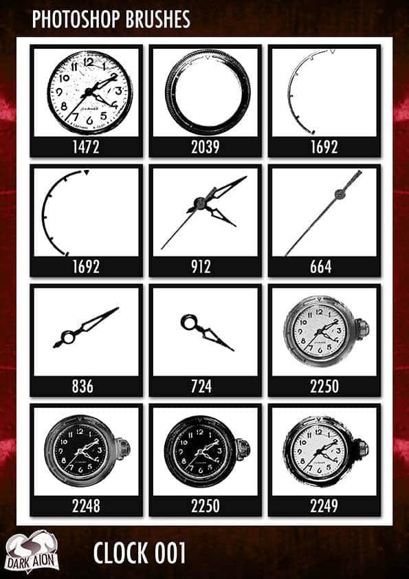 PS时钟钟表笔刷素材下载