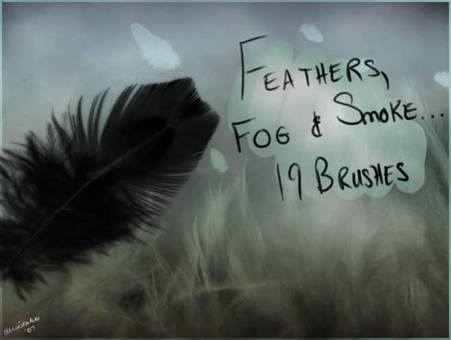 烟雾与羽毛笔刷
