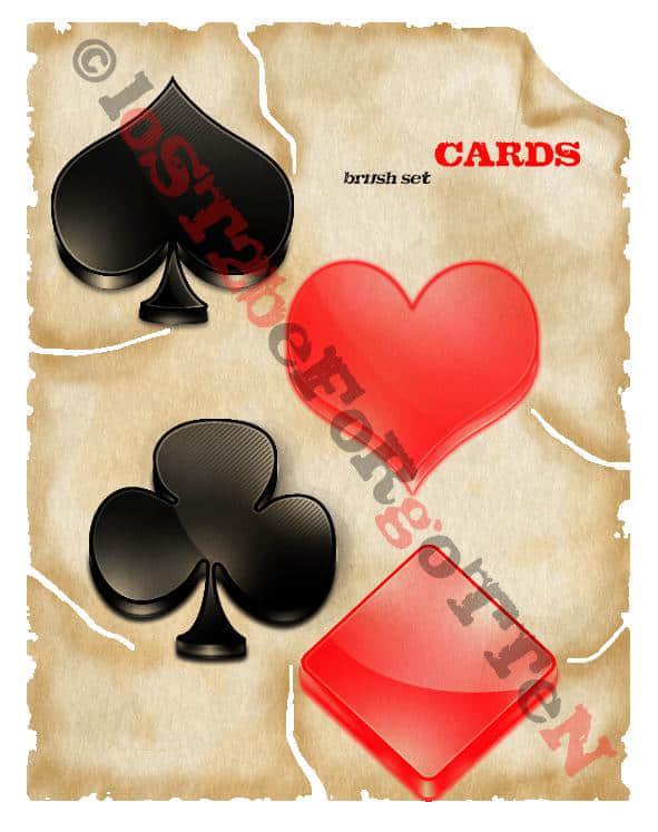 扑克牌红桃方块图案笔刷