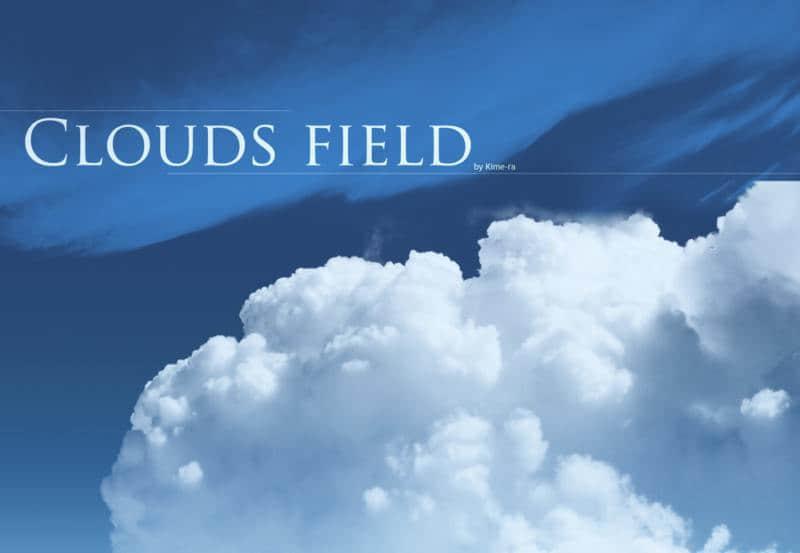 Photoshop CS5高清天空云朵白云笔刷