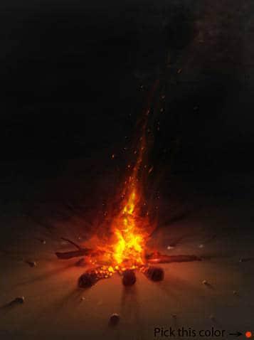 CG插画仿真式火焰燃烧笔刷